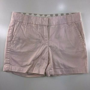 J.Crew Pink Broken In Chino City Fit Shorts BG22